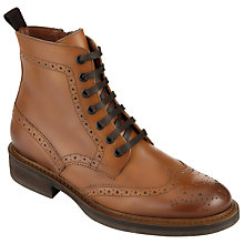Buy Collection WEEKEND by John Lewis Pessac Wing Tip Brogue Boots, Brown Leather Online at johnlewis.com