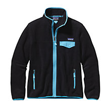 Buy Patagonia Zip Snap-T Women's Fleece Jacket, Black/Blue Online at johnlewis.com
