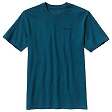 Buy Patagonia P6 Logo Cotton T-Shirt, Blue Online at johnlewis.com