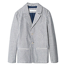 Buy Mango Kids Boys' Striped Cotton Blazer, Grey/Off White Online at johnlewis.com