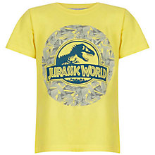 Buy John Lewis Boy Jurassic World Short Sleeve T-Shirt, Yellow Online at johnlewis.com