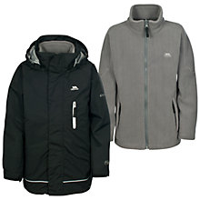 Buy Trespass Boys' Prime 3 in 1 Jacket, Black Online at johnlewis.com