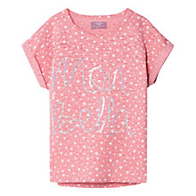 Buy Mango Kids Girls' Mon Belle Cotton-Blend T-Shirt Online at johnlewis.com