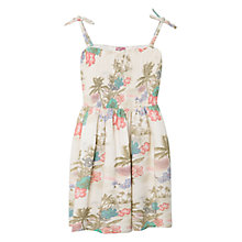 Buy Mango Kids Girls' Tropical Dress, Natural White Online at johnlewis.com