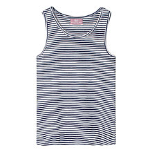 Buy Mango Kids Girls' Striped Vest, Medium Blue Online at johnlewis.com