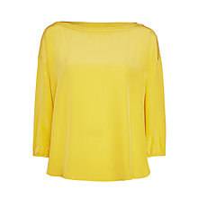 Buy Marella Coro Silk Blouse, Yellow Online at johnlewis.com