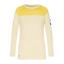 Buy Barbour Ailsa Crew Neck Sweater, Snow/Yellow Online at johnlewis.com