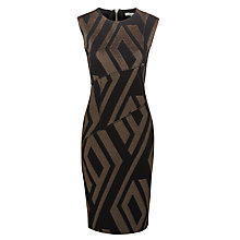 Buy Marella Siro Panel Geometric Print Shift Dress, Black Online at johnlewis.com