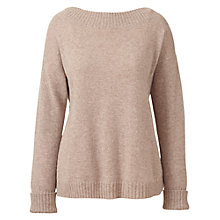 Buy Winser London Audrey Cashmere Jumper, Mink Online at johnlewis.com