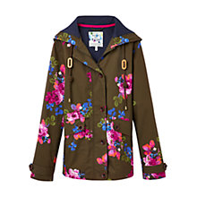 Buy Joules Right as Rain Coast Printed Waterproof Jacket, Dark Pine Floral Online at johnlewis.com