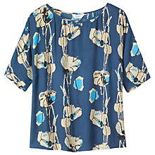 Buy Toast Sketched Floral Print Jersey Top Online at johnlewis.com
