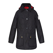 Buy Barbour Shore Waxed Jacket, Navy Online at johnlewis.com
