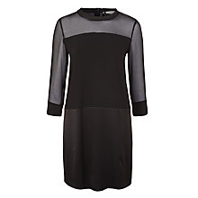 Buy Marella Teti Sheer Panel Dress, Black Online at johnlewis.com