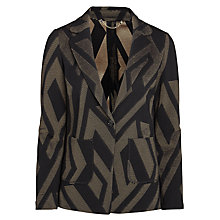 Buy Marella Prisma Chevron Jacket, Black Online at johnlewis.com