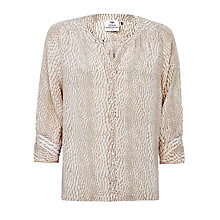 Buy Pyrus Katie Silk Print Blouse, Snake Online at johnlewis.com