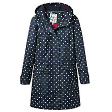 Buy Joules Right as Rain Windermere Spot Waterproof Coat, Navy Online at johnlewis.com