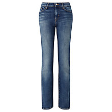 "Buy Levi's 714 32"" Straight Jeans, Tumbled Indigo Online at johnlewis.com"