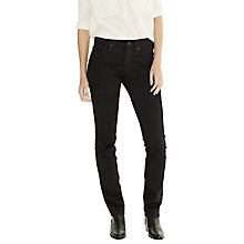 "Buy Levi's 714 30"" Straight Jeans, Black Sheep Online at johnlewis.com"