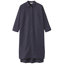 Buy Toast Linen-blend Shirt Dress, Petrol Grey Online at johnlewis.com