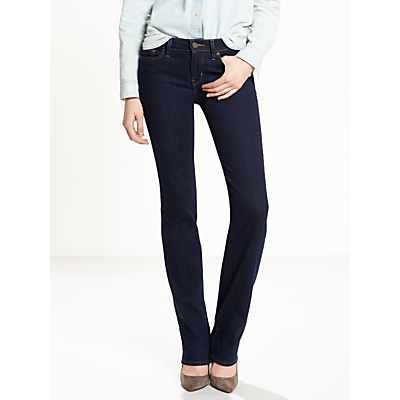 Levi's 714 Mid Rise Straight Jeans, Lone Wolf