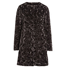 Buy Marella Raiment Eco Faux Fur Coat, Blackboard Online at johnlewis.com