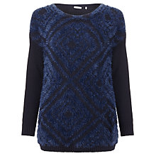 Buy Marella Canter Textured Jumper, Navy Online at johnlewis.com