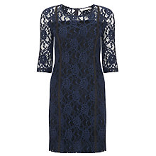 Buy Marella Marruca Lace Shift Dress, Midnight Blue Online at johnlewis.com