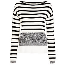 Buy Marella Beauty Stripe Jumper, White Online at johnlewis.com