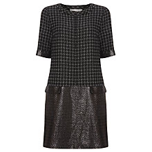 Buy Marella Alaska Check Drop Waist Dress, Black Online at johnlewis.com