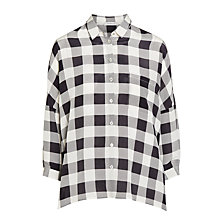 Buy Marella Addirsi Silk Check Shirt, Black Online at johnlewis.com