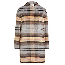 Buy Marella Baloon Check Coat, Melange Grey Online at johnlewis.com