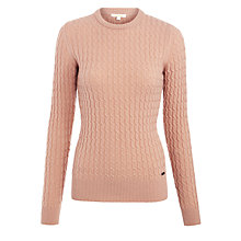 Buy Barbour Langdale Lambswool Jumper, Nude Online at johnlewis.com