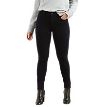 Buy Levi's 721 High Rise Skinny Jeans, Black Sheeo Online at johnlewis.com