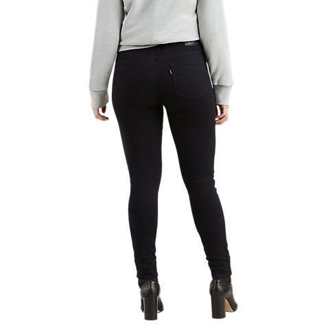 Buy Levi's 721 High Rise Skinny Jeans, Black Sheep Online at johnlewis.com