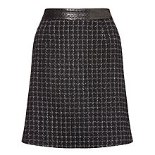 Buy Marella Mosella Check A Line Skirt, Black Online at johnlewis.com