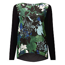 Buy Marella Orel Floral Print Top, Underwood Green Online at johnlewis.com