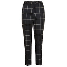 Buy Marella Full Checked Trousers, Black/Biscuit Online at johnlewis.com