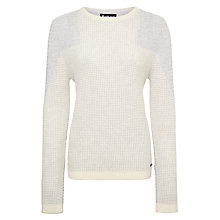 Buy Barbour International Fireblade Crew Neck Jumper, Snow/Grey Marl Online at johnlewis.com