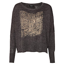 Buy Crea Concept Long Sleeve Printed Jumper, Dark Grey/Taupe Online at johnlewis.com