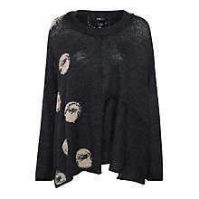 Buy Crea Concept Flared Spot Print Jumper, Grey/Taupe Online at johnlewis.com
