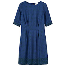 Buy Toast Eagle Eye Print Dress, Midnight Teal Online at johnlewis.com
