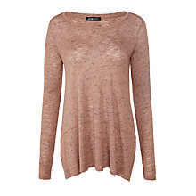 Buy Crea Concept Oversized Jersey Top, Pink Online at johnlewis.com