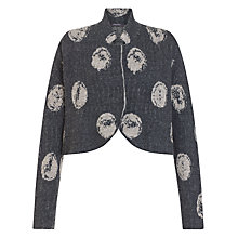 Buy Crea Concept Spotted Crop Jacket, Grey/Taupe Online at johnlewis.com