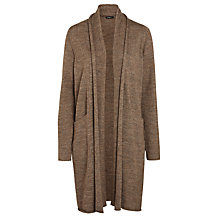 Buy Crea Concept Wool Mix Longline Cardigan, Taupe Online at johnlewis.com