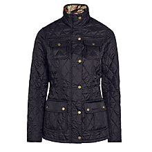 Buy Barbour Ruskin Quilted Jacket, Black Online at johnlewis.com