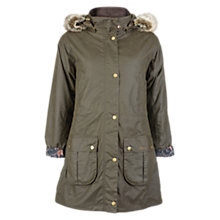 Buy Barbour Tors Wax Parka Coat, Olive Online at johnlewis.com
