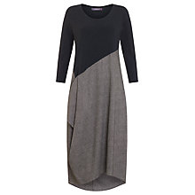 Buy Crea Concept Colour Block Drape Dress, Grey/Taupe Online at johnlewis.com