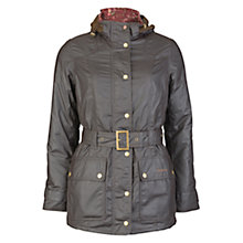 Buy Barbour Bower Belted Wax Jacket, Rustic Online at johnlewis.com