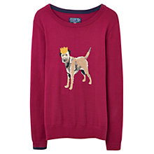 Buy Joules Festive Terrier Jumper, Ruby Online at johnlewis.com