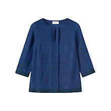 Buy Toast Eagle Eye Print Top, Midnight Teal Online at johnlewis.com